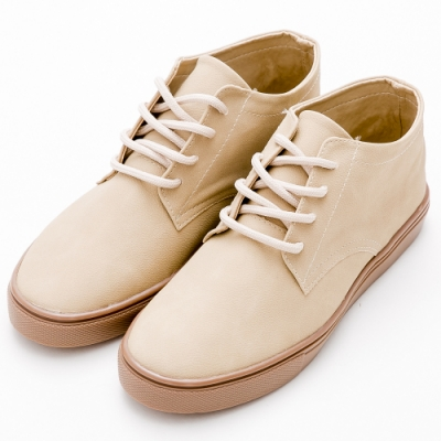 River&Moon休閒鞋 MIT復古Q軟綁帶休閒鞋 米杏