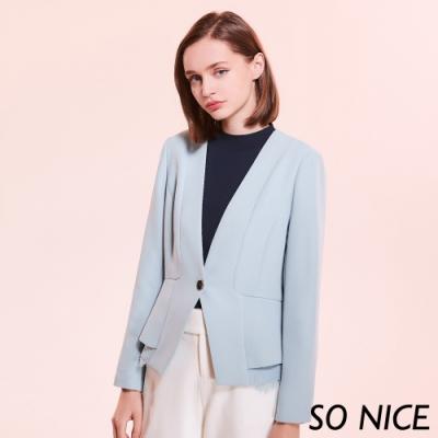 SO NICE時尚蕾絲西裝外套