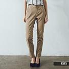 【KiKi】職人百搭系列修身-長褲(卡色)