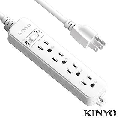 KINYO 1切4座安全延長線3.6M(SD31412)