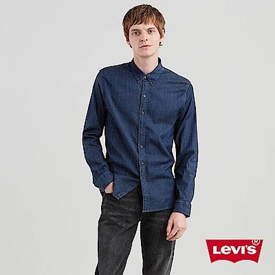 Levis 男款 牛仔襯衫 無口袋 深藍