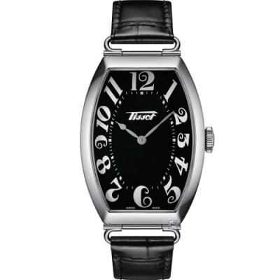 TISSOT Heritage Porto 優雅酒桶形時尚手錶(T1285091605200)