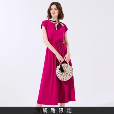 SO NICE網路限定款-休閒簡約風綁結長洋裝