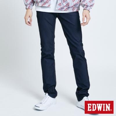 EDWIN JERSEYS x EDGE 加大碼 皮條滾邊窄直牛仔褲-男-原藍色