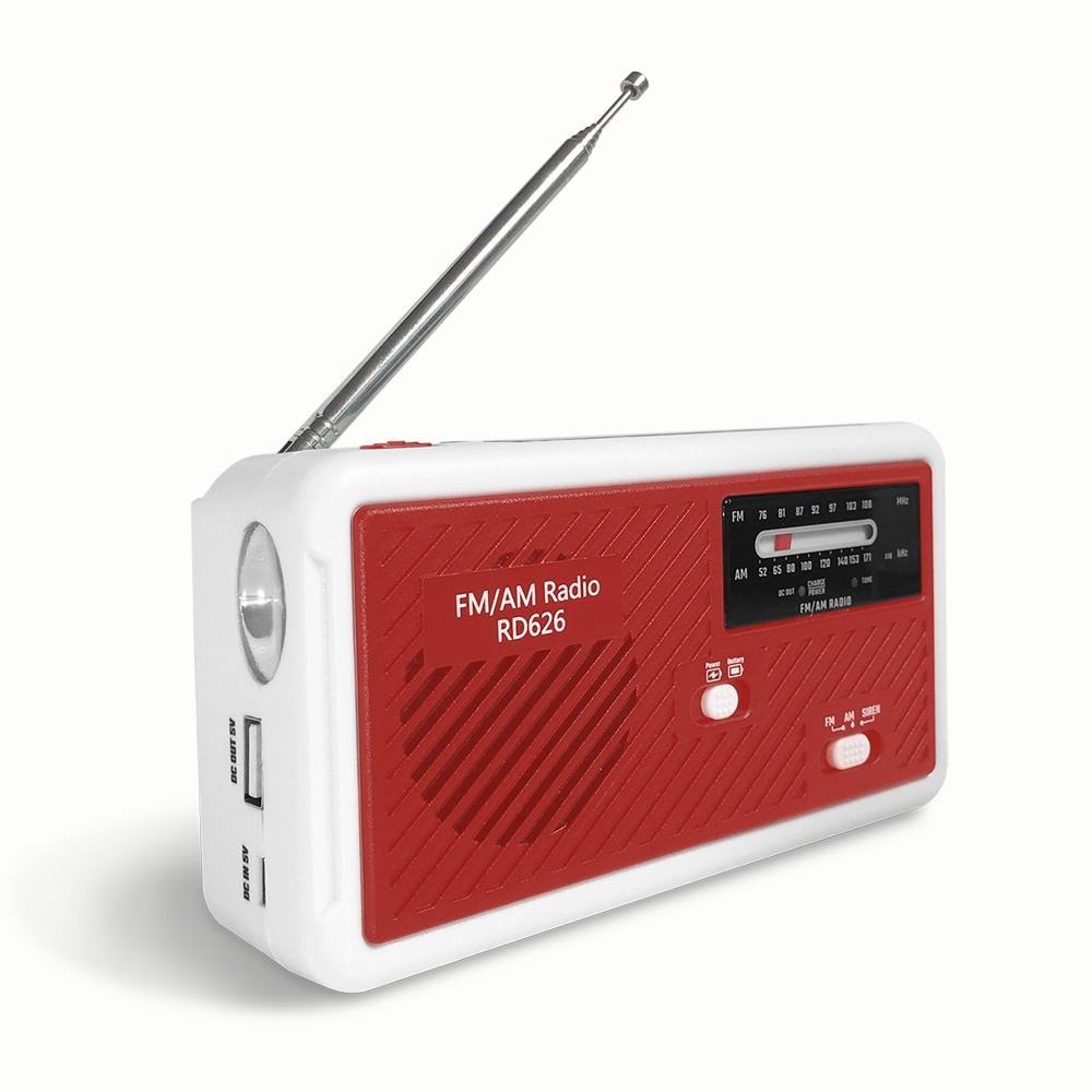 LED手搖充電式緊急照明手電筒 RD626(紅) 防颱/地震防災包