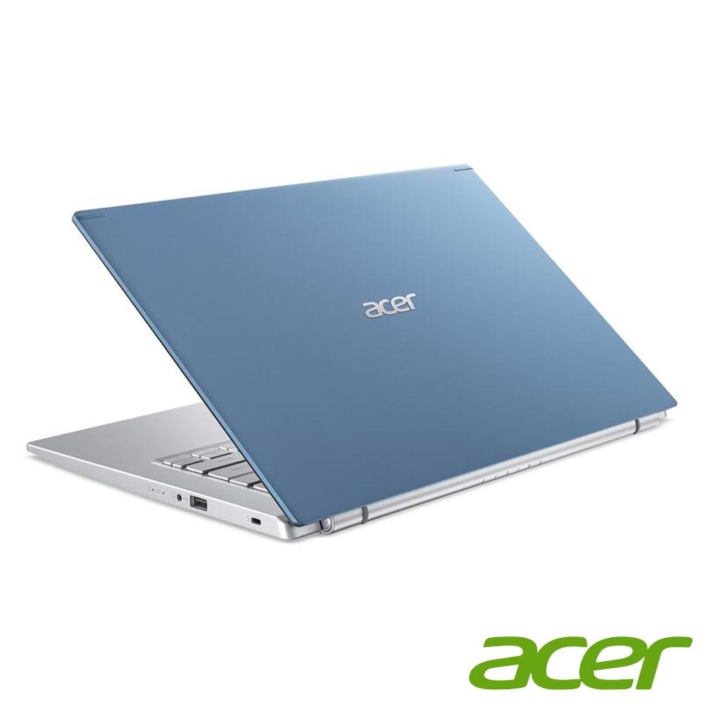(升級12G,雙碟)Acer A514-54G-597W 14吋筆電(I5-1135G7/MX350/8G+4G/1TB HDD+256G SSD/藍/特仕版)