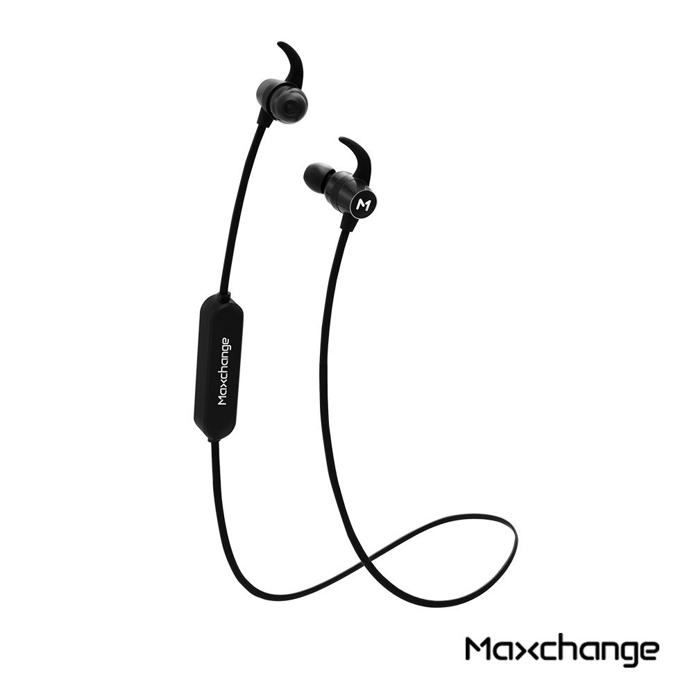 Maxchange F4S 運動磁吸式藍牙耳機 煙燻黑