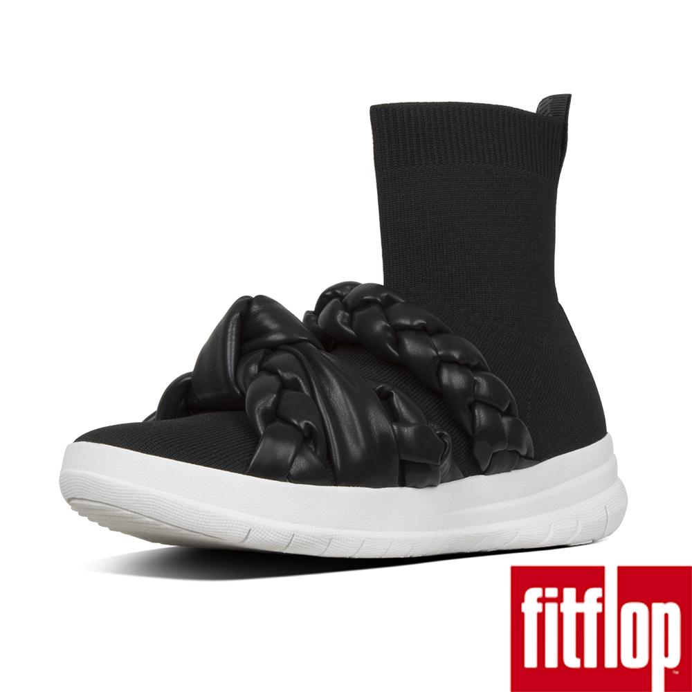 FitFlop ÜBERKNIT BRAID SOCK BOOTS-黑色