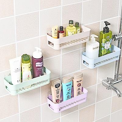 日創優品 強力黏膠浴室置物架2入