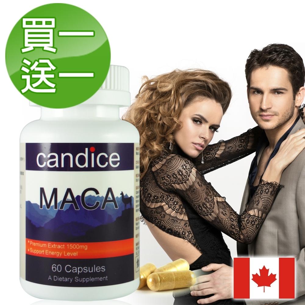 【Candice】買一送一 康迪斯瑪卡MACA萃取膠囊(60顆/瓶)即期品2021/07