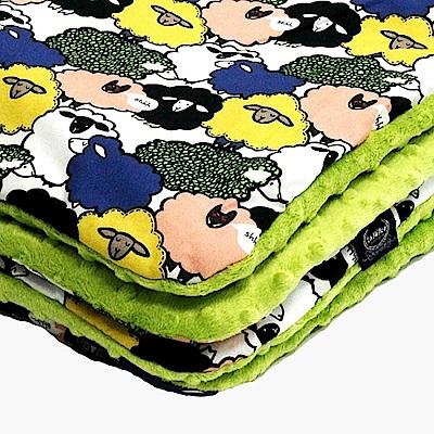 La Millou暖膚豆豆毯-朵朵綿羊糖(香草綠薄荷)
