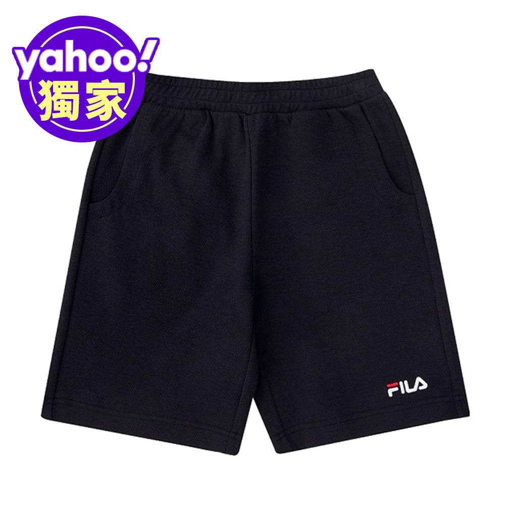 FILA KIDS 童針織短褲-黑 1SHV-4506-BK