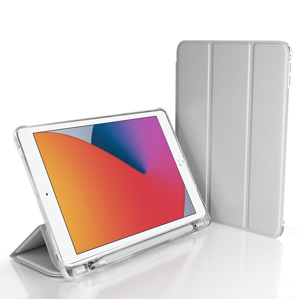 2020 iPad 8 10.2吋 三折蜂巢散熱筆槽保護殼套