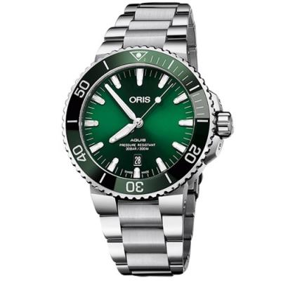 ORIS 豪利時 Aquis 時間之海潛水300米自動上鍊x綠水鬼x43.5mm