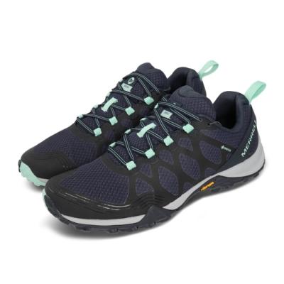 Merrell 戶外鞋 Siren 3 GTX 運動 女鞋 登山 越野 耐磨 支撐 黃金大底 防潑水 藍 綠 ML034282