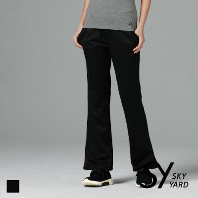 【SKY YARD 天空花園】小喇叭休閒長褲-黑色