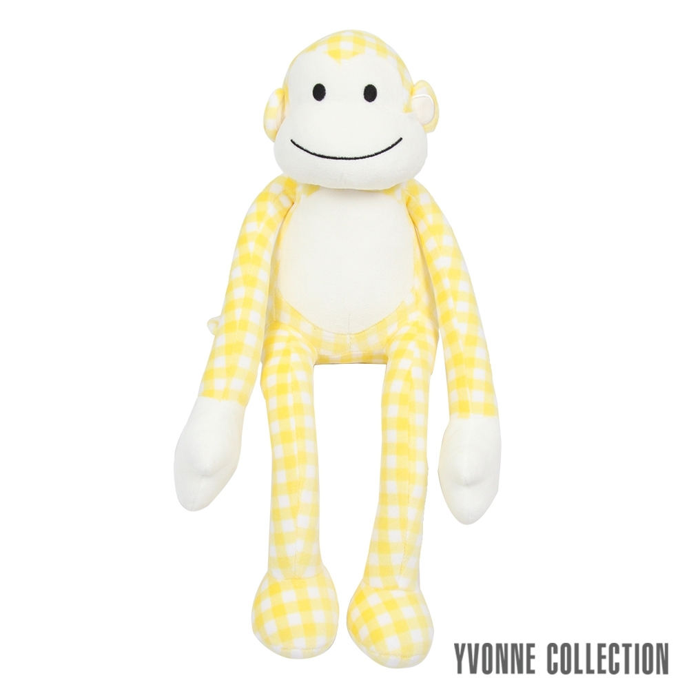 Yvonne Collection 猴子造型小抱枕-黃格 product image 1