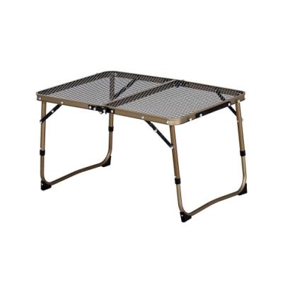 KAZMI 迷你鋼網折疊桌 鈦金色 K8T3U011