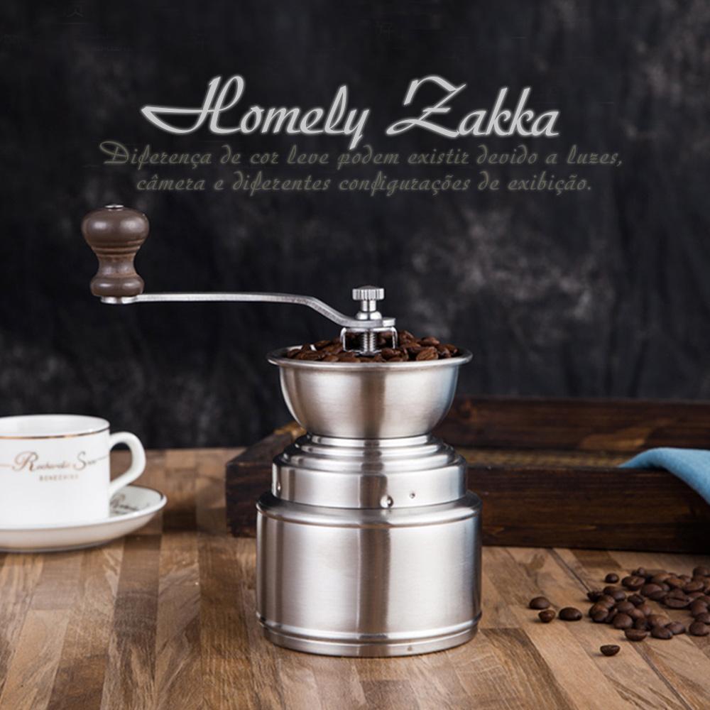 Homely Zakka 極簡大容量儲粉槽304不鏽鋼手搖式咖啡磨豆機/研磨機