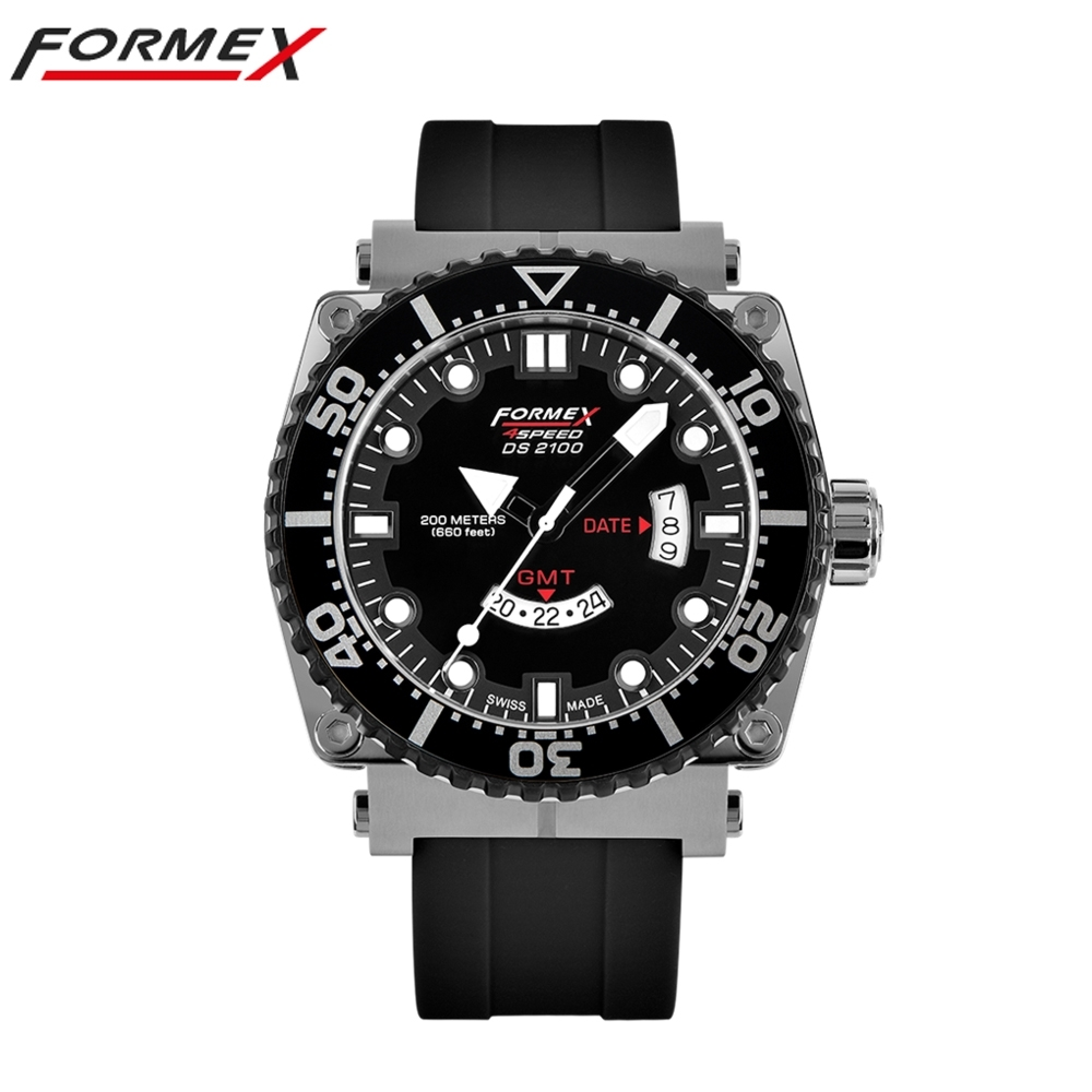 Formex 弗美克斯潛水系列石英GMT (黑)2100.3.2022.910