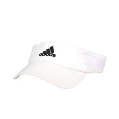 ADIDAS 中空運動帽-吸濕排汗 遮陽帽 防曬 帽子 愛迪達 FK0859 白黑