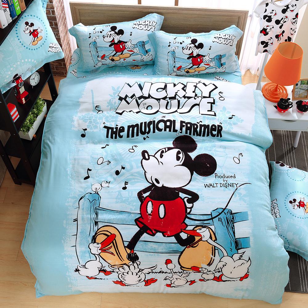 LASOL睡眠屋-100%奧地利天絲 單人兩用被床包三件組俏皮米奇