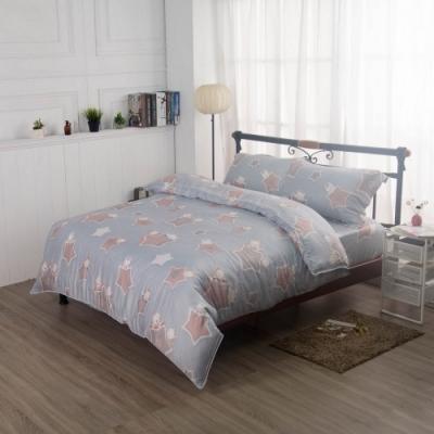 夢工場星光灑落40支紗萊賽爾天絲四件式兩用被床包組-特大