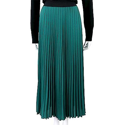 MARELLA 細百摺綠色雪紡長裙