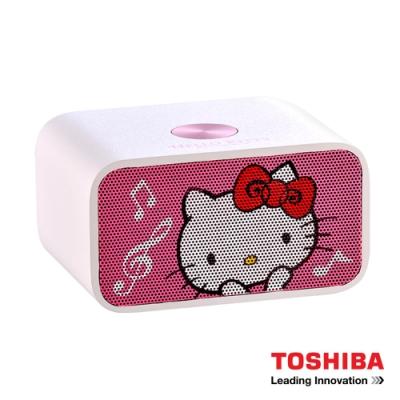 TOSHIBA HelloKitty NFC藍牙喇叭音響TY-WSP53KTTW(福利品)