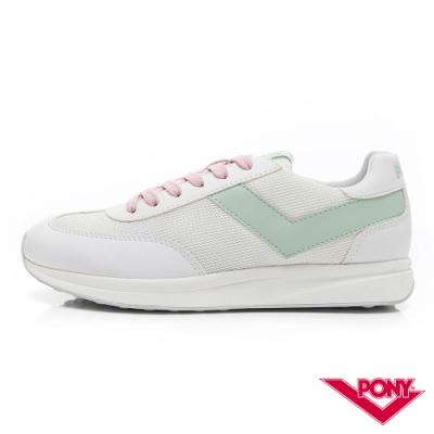 【PONY】Montreal 甜蜜配色復古運動鞋 慢跑鞋 休閒鞋-女鞋-淺綠色