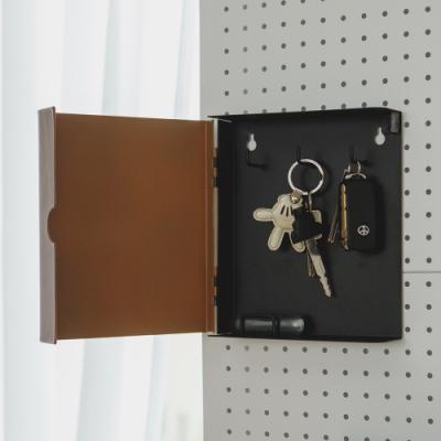 買就送 完美主義 木紋質感牆面鑰匙盒/收納盒/玄關收納/MIT台灣製(2色)