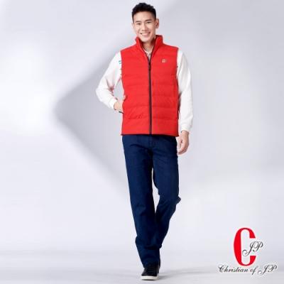 Christian 時尚機能休閒立領背心 _紅(JW701-18)