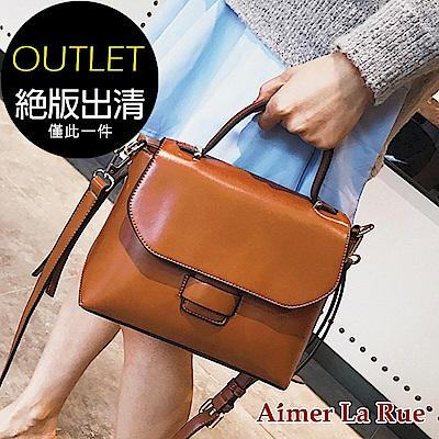 Aimer La Rue 簡約素雅手提側背包(棕色)(絕版出清) @ Y!購物