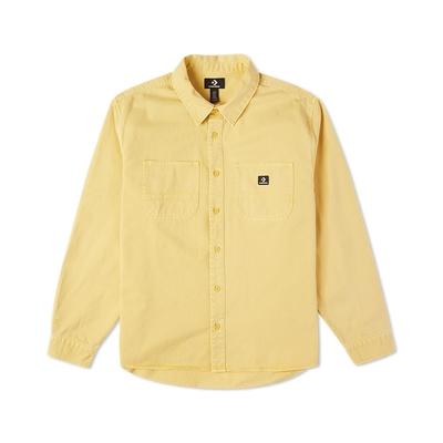 CONVERSE WOVEN BUTTON DOWN 襯衫外套 男款 黃色 10022012-A03