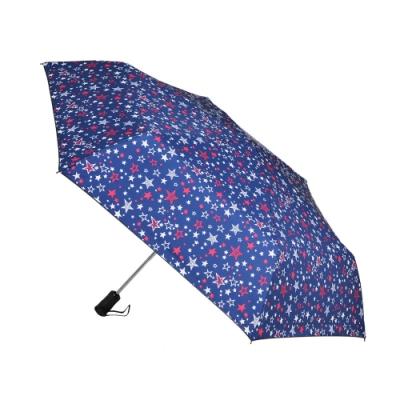 2mm 100%遮光 創意系黑膠降溫多段式自動開收傘 (星星)