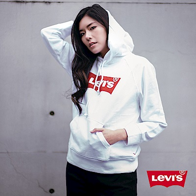 Levis 女款 重磅帽T 經典Logo