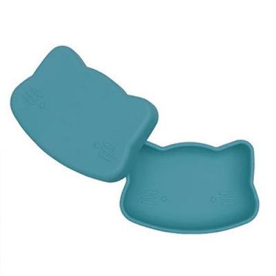澳洲We Might Be Tiny 矽膠防滑便當盒小花貓-孔雀藍