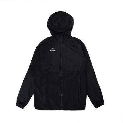 Nike 外套 Woven Football JKT 男款 運動休閒 連帽外套 大勾勾 反光 黑 白 CT2511010