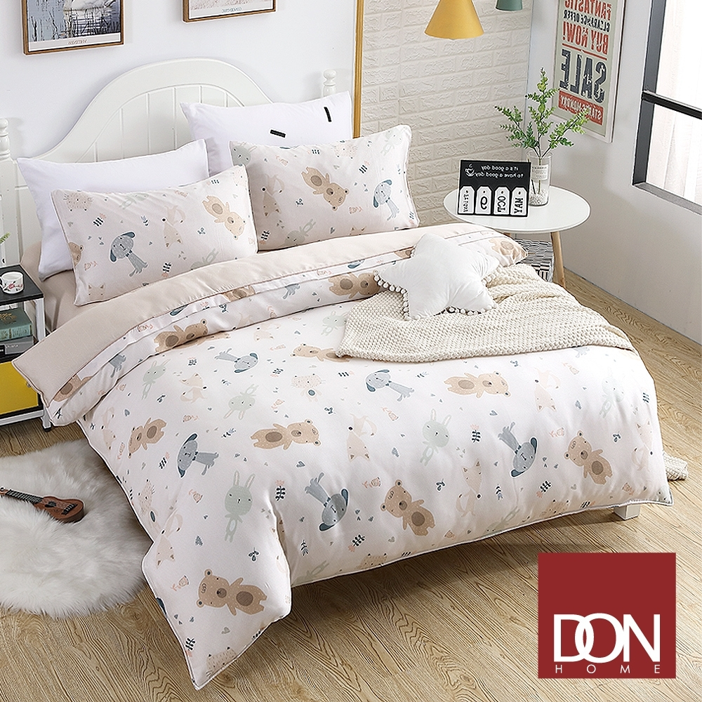 【DON】 單人天絲兩用被床包四件組-童年記憶