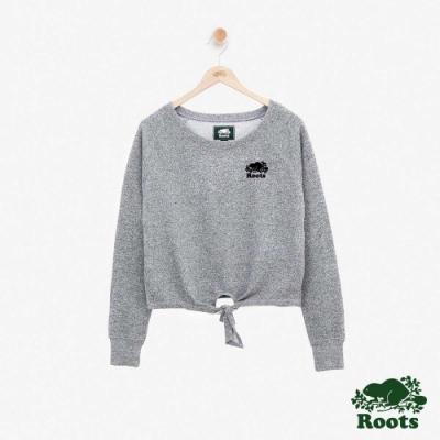 女裝Roots - S&P系列綁結毛圈布上衣-灰色