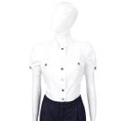 BLUGIRL-Folies 白色紅心款排釦棉質上衣(展示品)