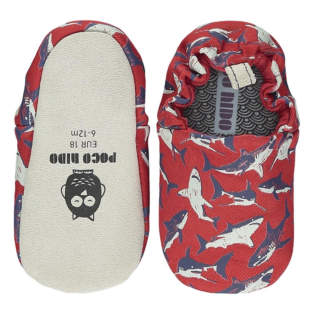 英國 POCO NIDO 手工嬰兒鞋 (鯊魚寶寶)【2021新款】