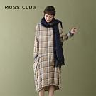 【MOSS CLUB】MIT台灣製造 設計款格紋-洋裝(二色)