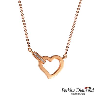 PERKINS 伯金仕 -  My Heart系列 18K玫瑰金鑽石項鍊