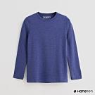 Hang Ten -童裝 -ThermoContro-素面運動機能圓領長袖上衣-藍