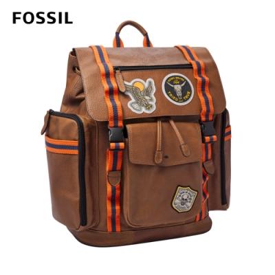 【FOSSIL】Latitude 多功能玩趣後背包-棕色 MBG9542210