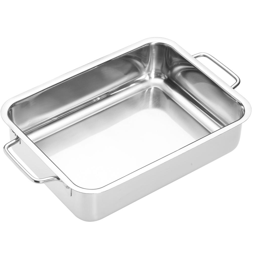 《Master》雙柄不鏽鋼長形深烤盤(27cm)