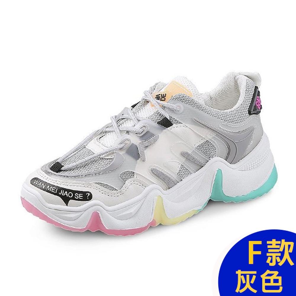 [韓國KW美鞋館]-(預購)百搭時尚好穿運動鞋 (F款-灰色)