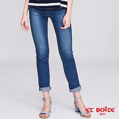 ETBOITE 箱子 經典弧線高腰直筒褲