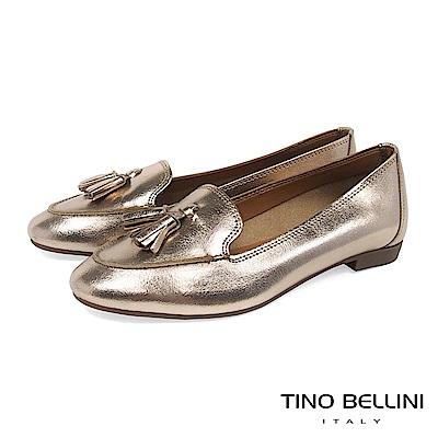Tino Bellini 義大利進口典雅小流蘇樂福鞋 _ 玫瑰金